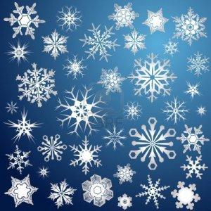 5359263-silver-snowflakes