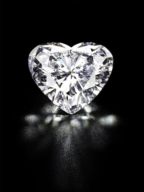 Heart-Shaped Diamond - black